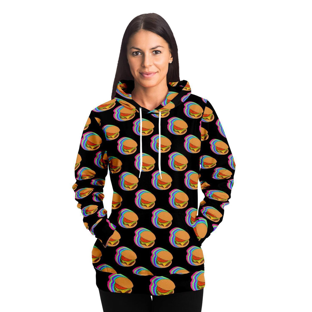 Burger Adult Hoodie - Fair Dinkum Fashion