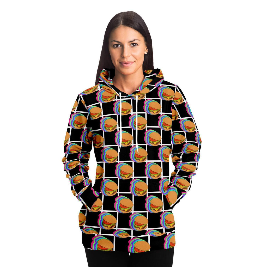 Burger with grid Adult Hoodie - Fair Dinkum Fashion
