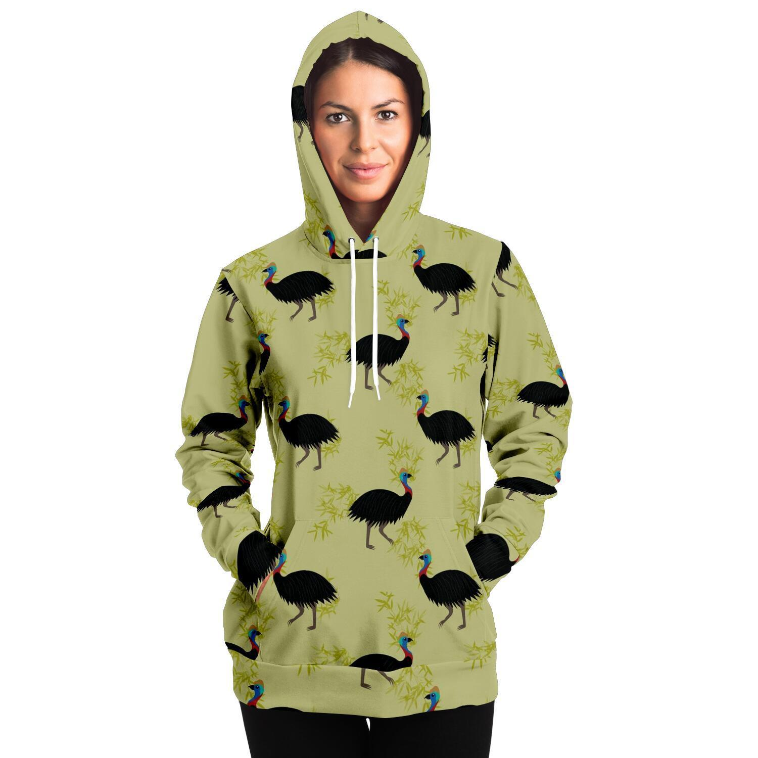 Cassowary Adult Hoodie - Fair Dinkum Fashion
