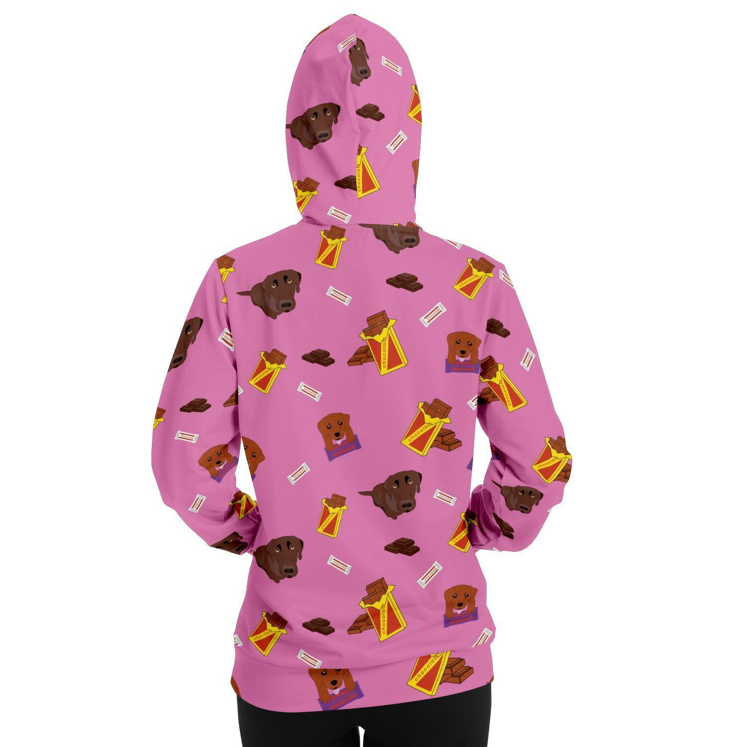 Chocolate Lab Adult Hoodie - Pink - Fair Dinkum Fashion