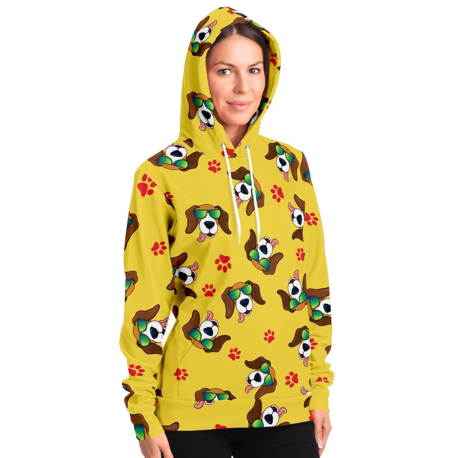 Cool Dog Adult Hoodie - Yellow - Fair Dinkum Fashion
