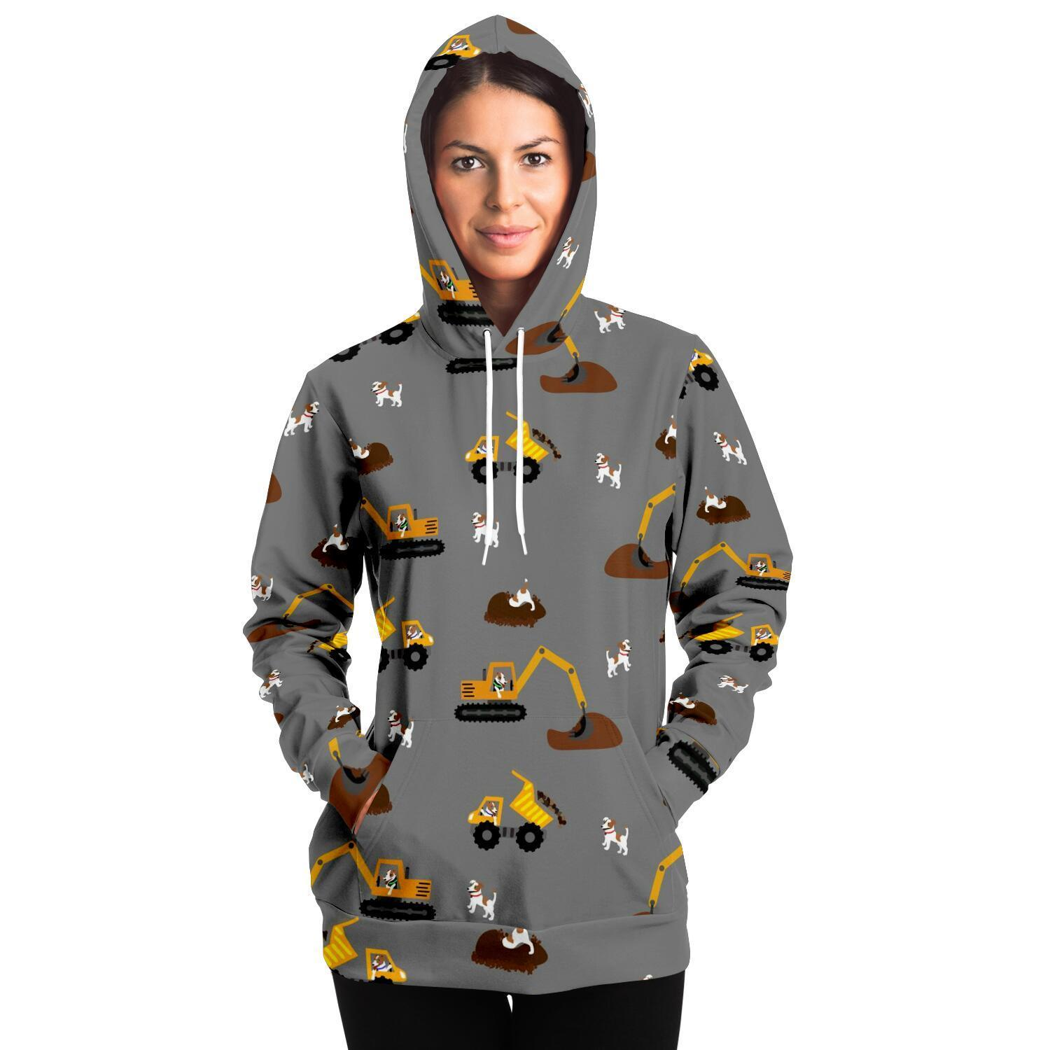 Digger Dogs Adult Hoodie - Grey - Fair Dinkum Fashion