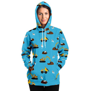 Digger Dogs  Adults Hoodie - Blue - Fair Dinkum Fashion