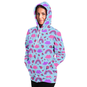 Ladybird and Rainbow Adult Hoodie - Fair Dinkum Fashion