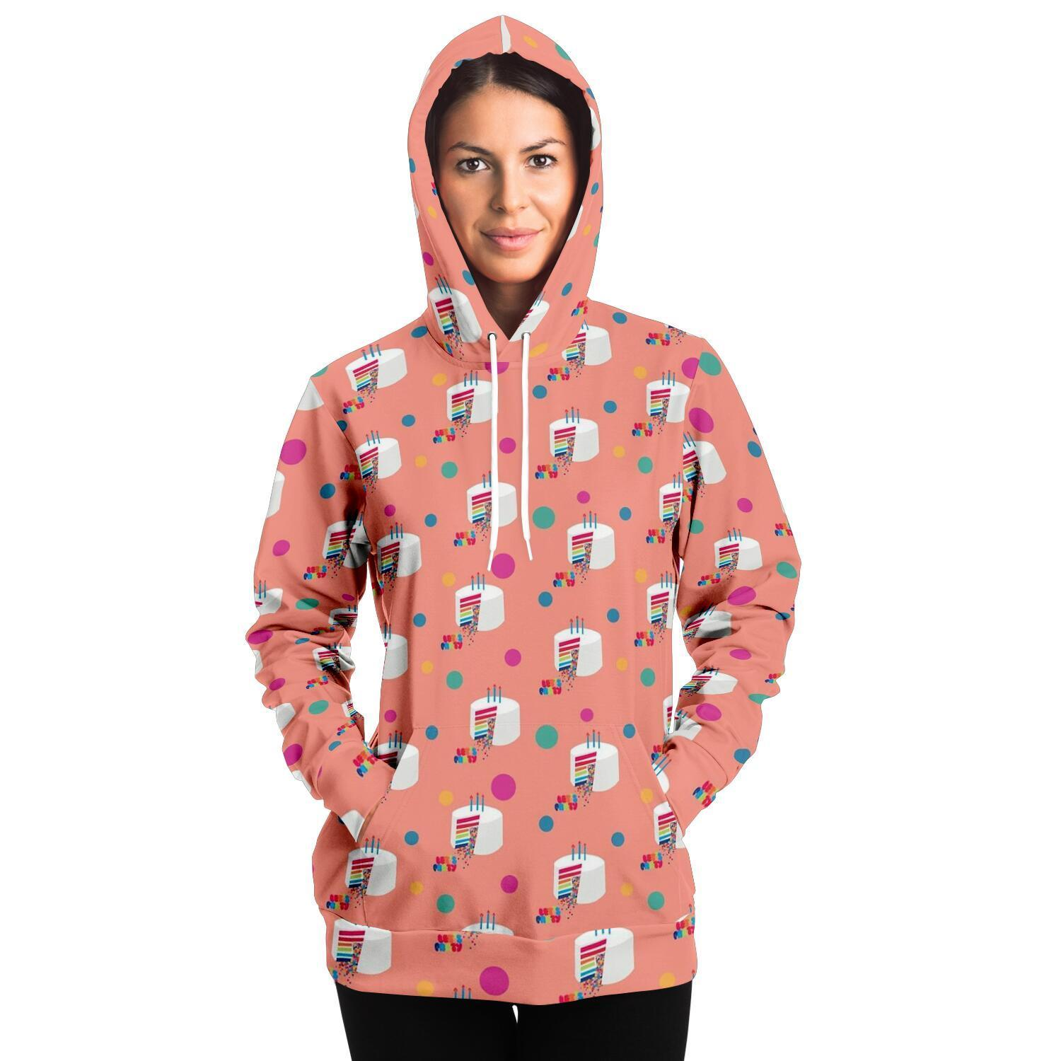 Let's Party Adult Hoodie - Peach - Fair Dinkum Fashion