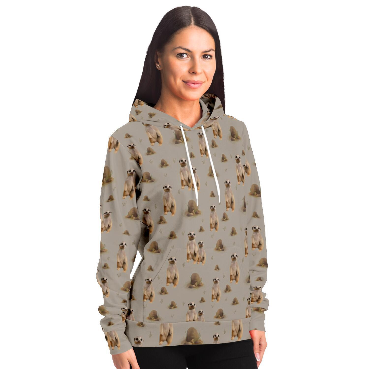 Meerkat Adults Hoodie - Fair Dinkum Fashion