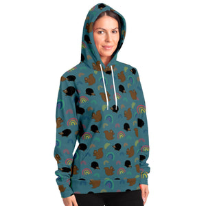 Squirrel and Hedgehog Adults Hoodie - Fair Dinkum Fashion