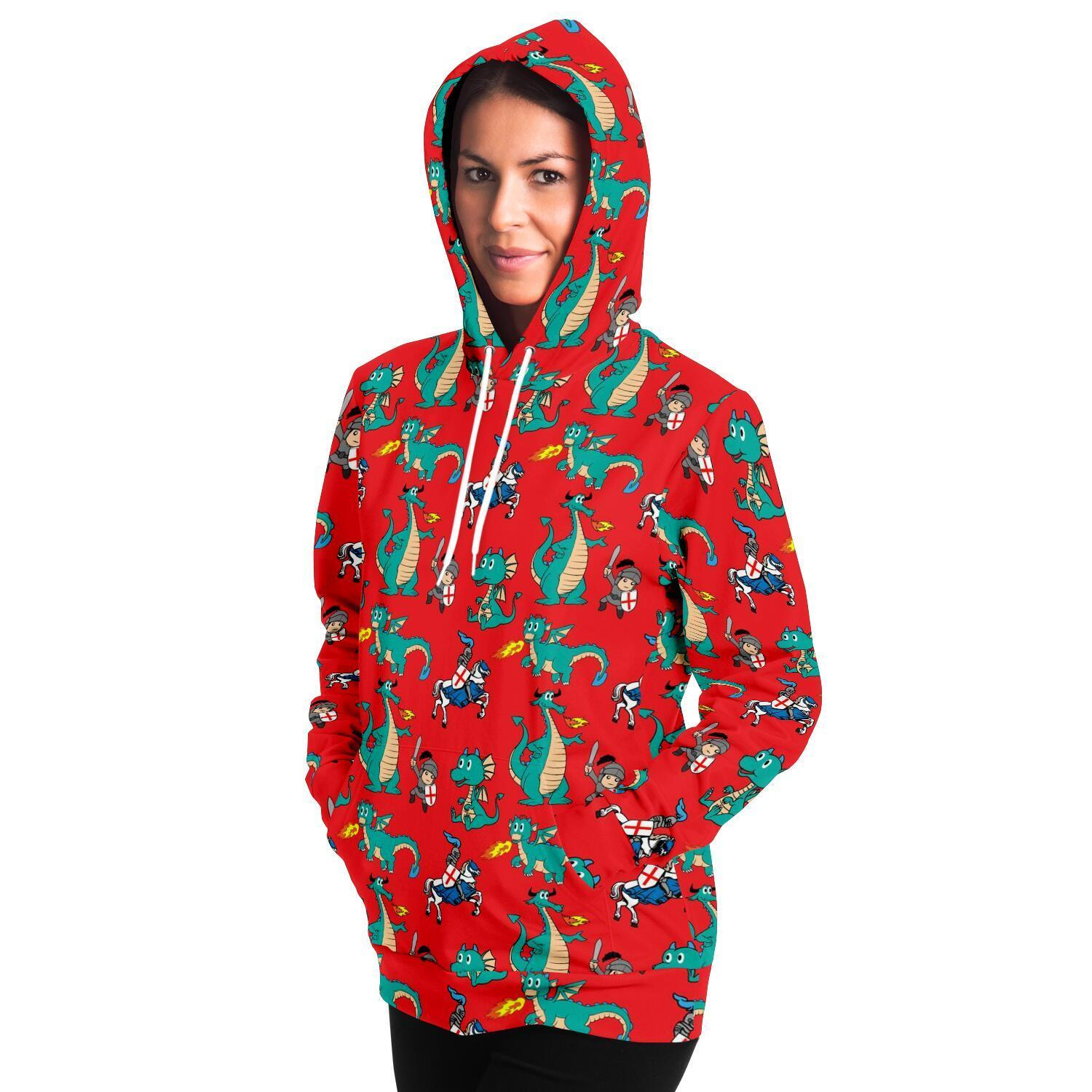 St George and Dragon Adults Hoodie - Fair Dinkum Fashion
