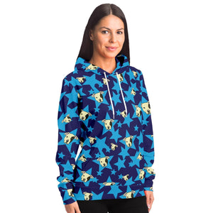 Staffy and star Adults Hoodie - Blue - Fair Dinkum Fashion