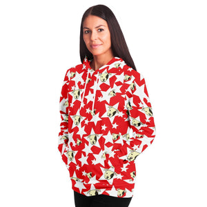 Staffy and Star Red Adults Hoodie - Fair Dinkum Fashion
