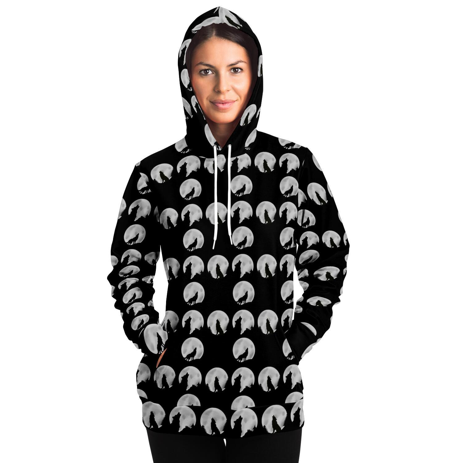 Wolf Silhouette Adult Hoodie - Fair Dinkum Fashion