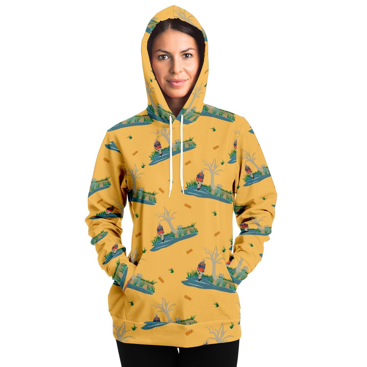Yellow Billabong Adult Hoodie - Fair Dinkum Fashion