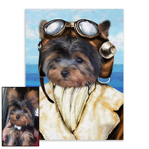 Fireman 2 - Custom Pet Portrait - Metal Wall Art - Fair Dinkum Fashion