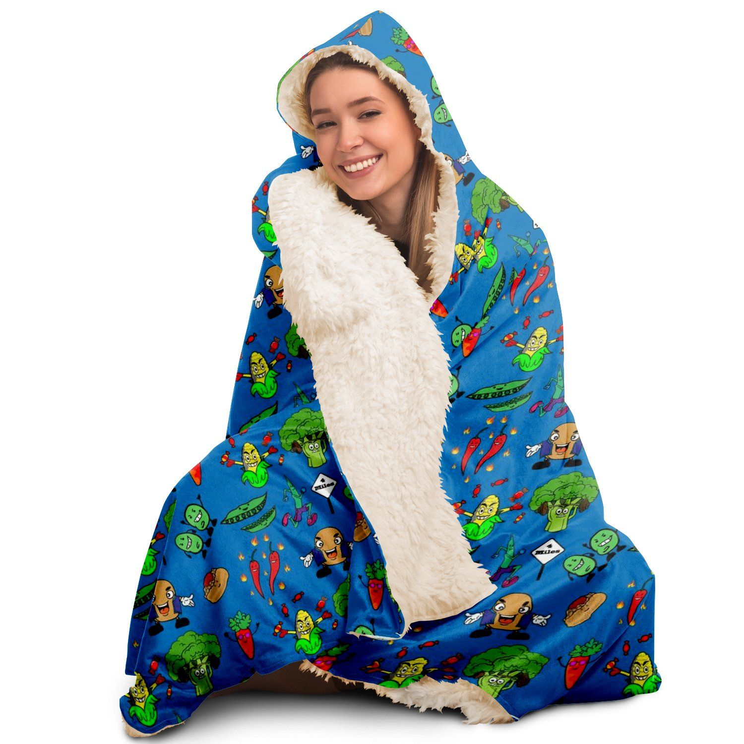 Animated Vegetables - Hooded Blanket - Youth and Adult Sizes - Fair Dinkum Fashion
