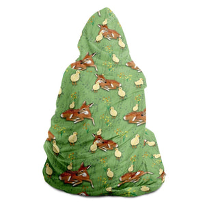 Deer and Chick - Hooded Blanket - Fair Dinkum Fashion