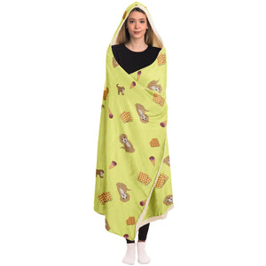 Dogs and Waffles - Hooded Blanket - Fair Dinkum Fashion