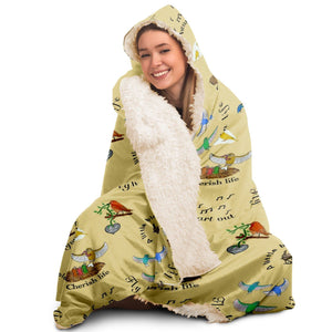 Song Bird - Hooded Blanket - Fair Dinkum Fashion