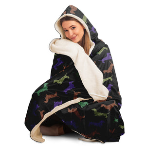 Textured Dachshunds - Hooded Blanket - Fair Dinkum Fashion