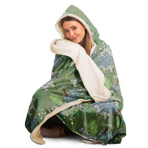 Zebra - Hooded Blanket - Fair Dinkum Fashion