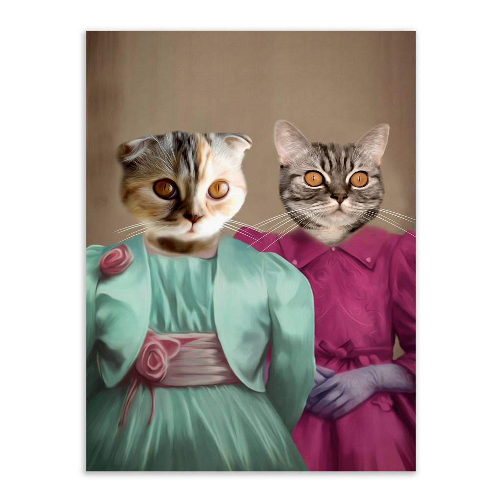 Ladies - Custom Pet Portrait - Metal Wall Art - Fair Dinkum Fashion