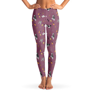 Dog grooming Ladies Leggings - Purple - Fair Dinkum Fashion