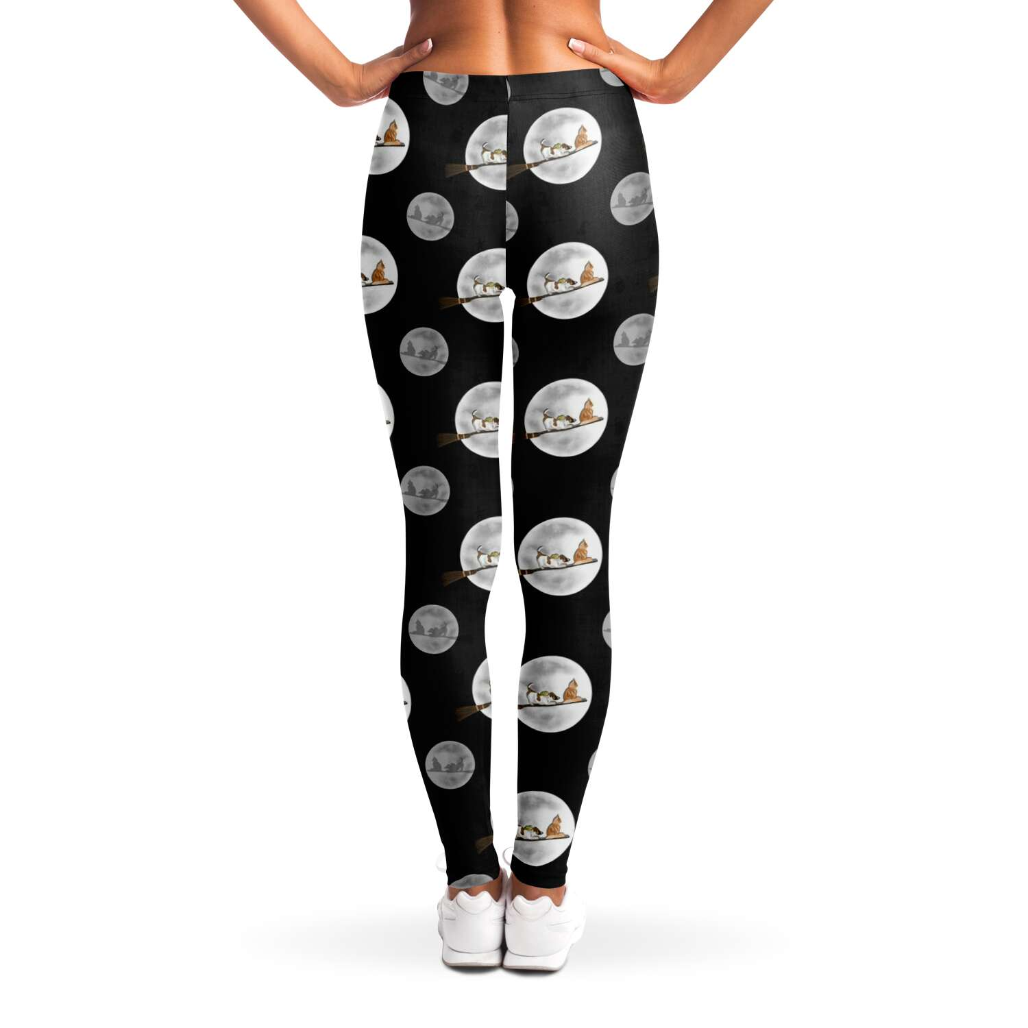 Halloween Cat and Dog - Ladies Leggings - Fair Dinkum Fashion