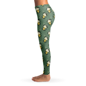 Ice Cream appreciation Ladies Leggings - Green - Fair Dinkum Fashion