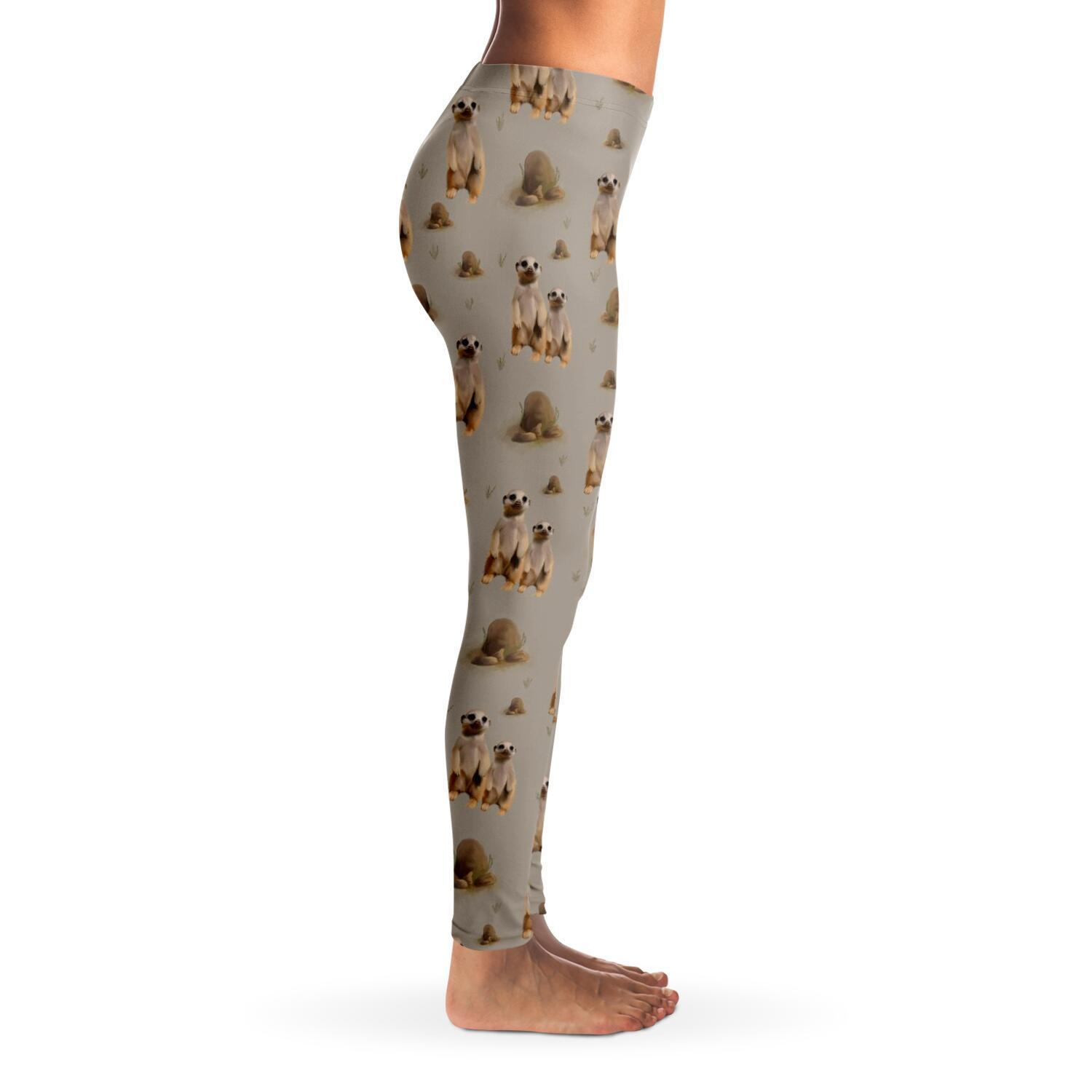Meerkat Ladies Leggings - Fair Dinkum Fashion