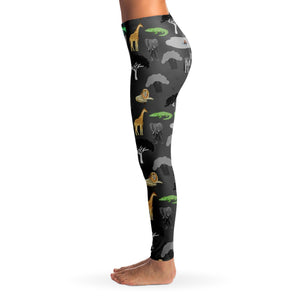 Safari Ladies Leggings - Grey - Fair Dinkum Fashion