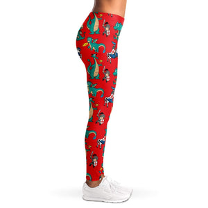 St George and Dragon Ladies Leggings - Fair Dinkum Fashion