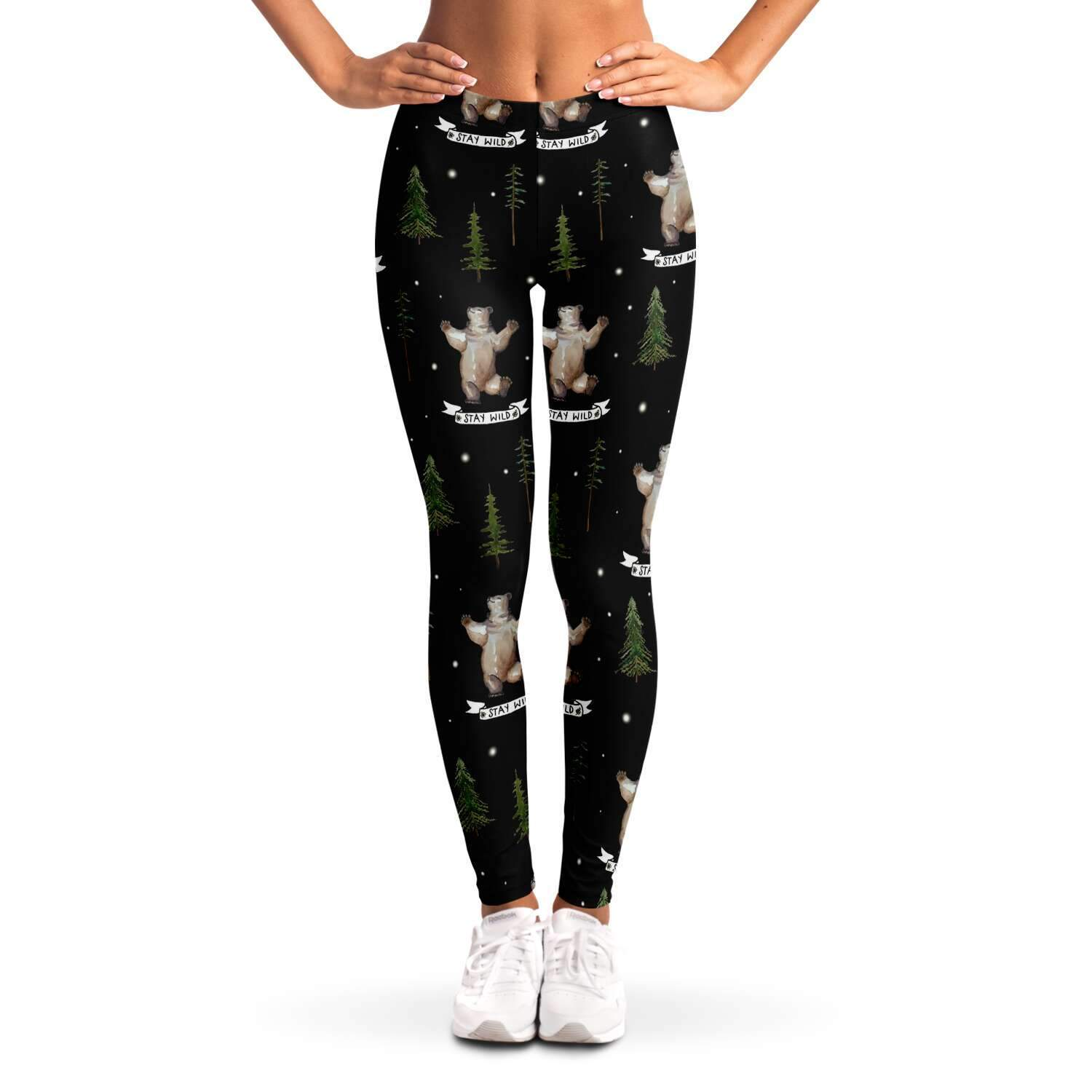 Stay wild bears Ladies Leggings - Fair Dinkum Fashion