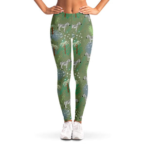 Zebra Ladies Leggings - Fair Dinkum Fashion