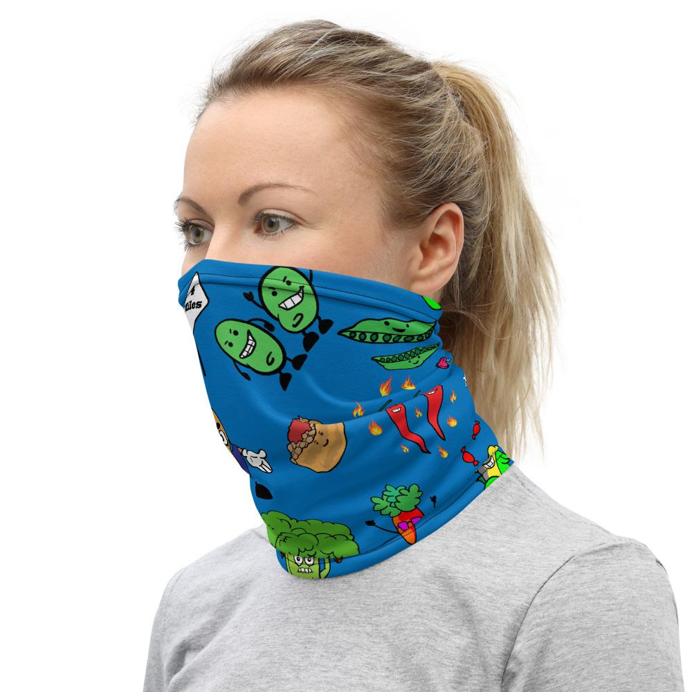 Neck Gaiter - Animated Vegetables - Fair Dinkum Fashion