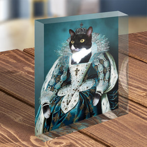 Queen - Custom Pet Portrait - Acrylic Photo Display Block - Fair Dinkum Fashion