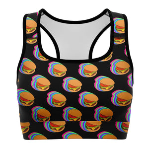 Burgers  - Sports Bra - Fair Dinkum Fashion