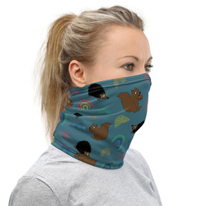 Squirrels and Hedgehogs - Neck Gaiter - Fair Dinkum Fashion
