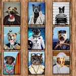 Suited 2 - Custom Pet Portrait - Metal Wall Art - Fair Dinkum Fashion