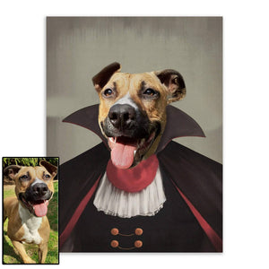 Suited 3 - Custom Pet Portrait - Metal Wall Art - Fair Dinkum Fashion