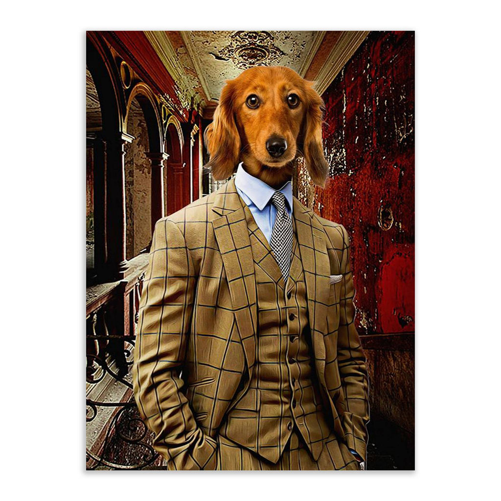 Suited - Custom Pet Portrait - Metal Wall Art - Fair Dinkum Fashion