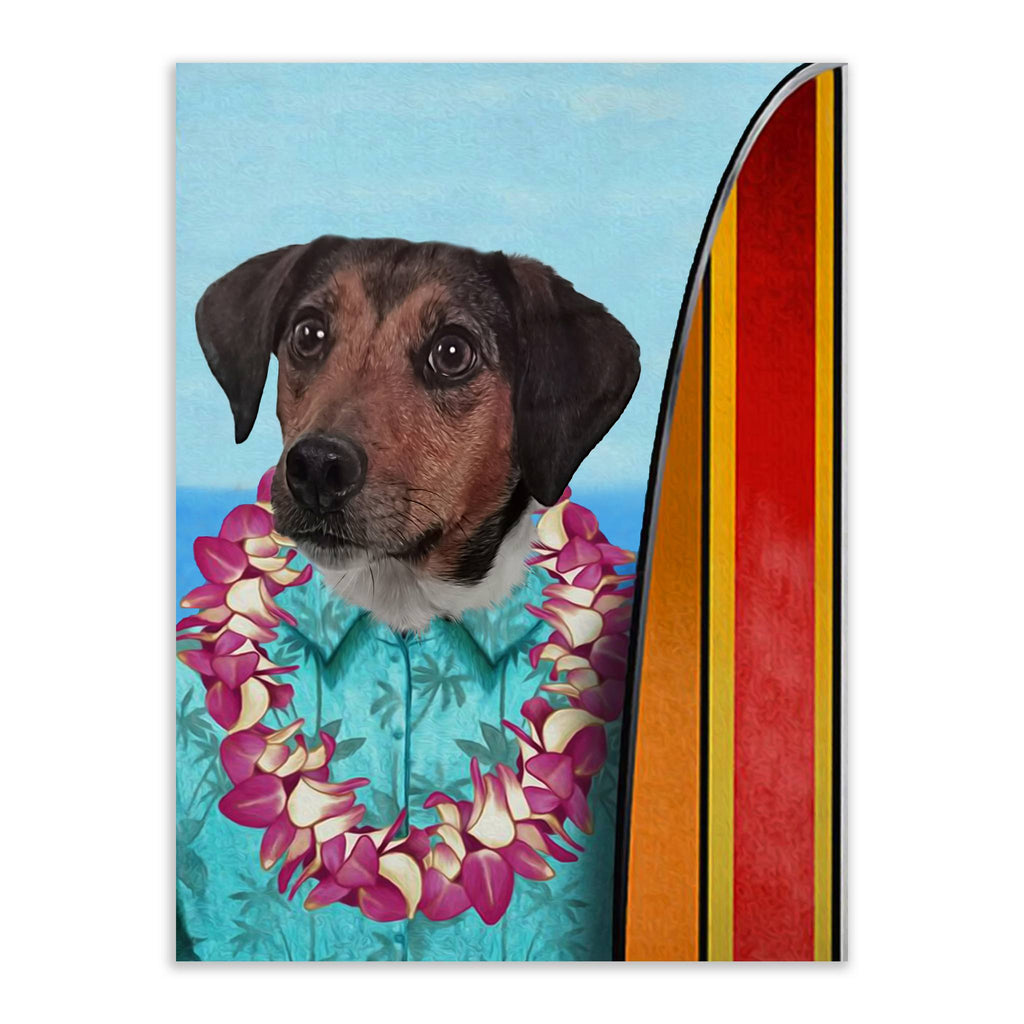 Surfer - Custom Pet Portrait - Metal Wall Art - Fair Dinkum Fashion