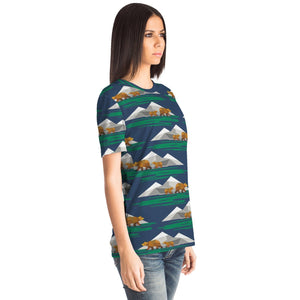 Brown Bears and Mountains T-shirt - Fair Dinkum Fashion
