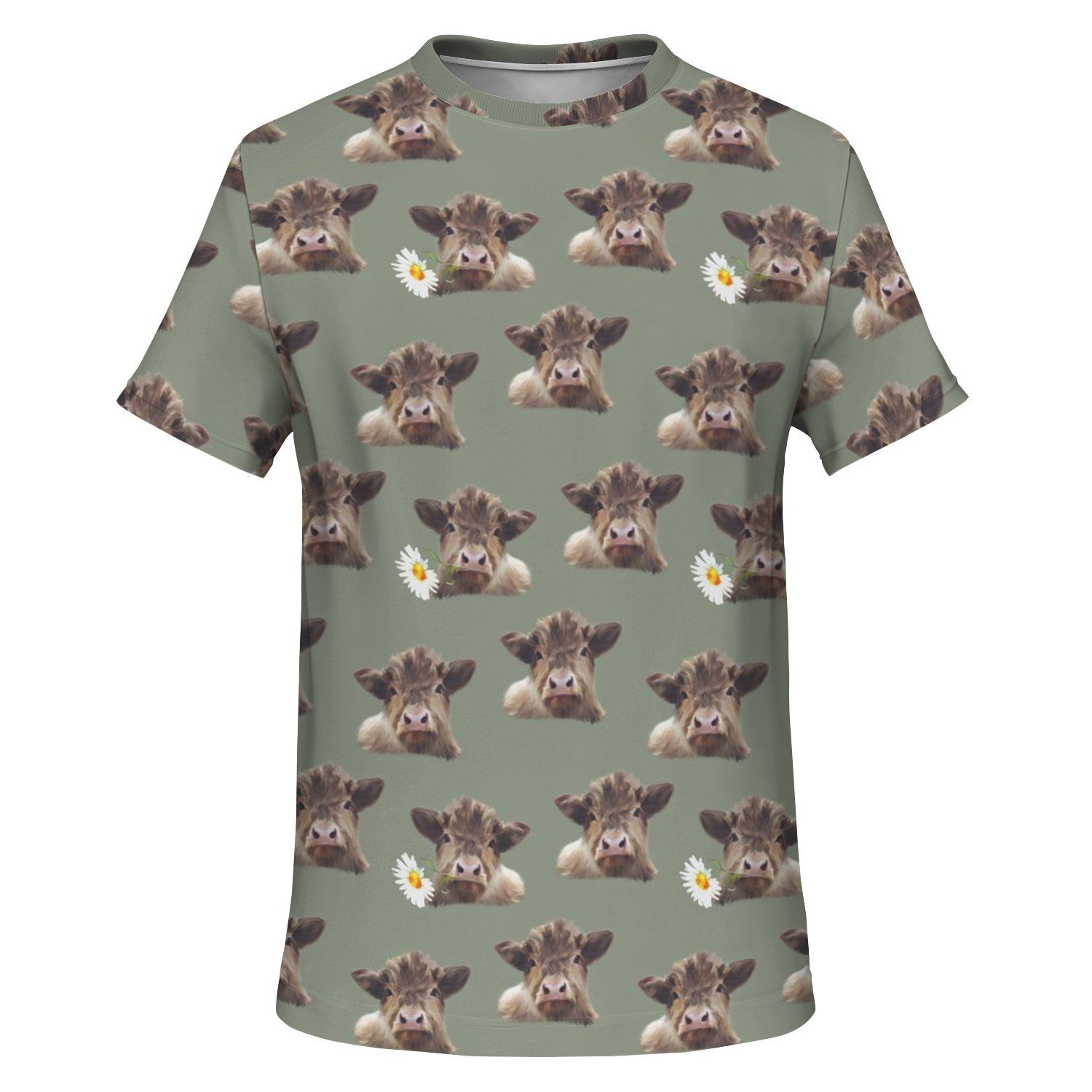 Cow and Flowers T-shirt - Fair Dinkum Fashion