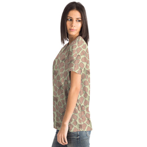 Giraffe Print T-shirt - Fair Dinkum Fashion