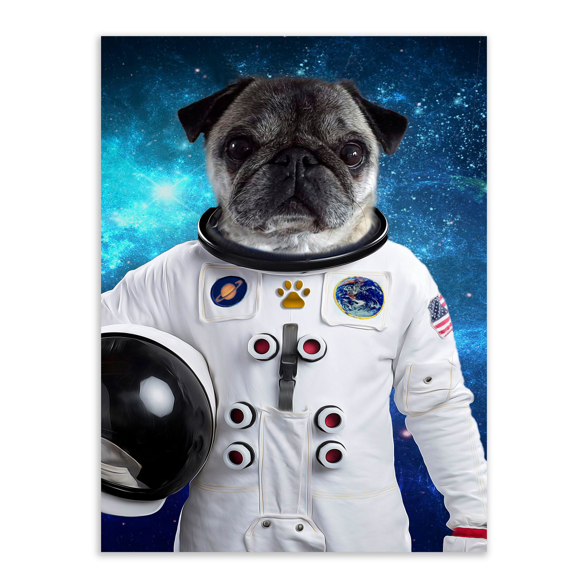 Up In Space - Custom Pet Portrait - Metal Wall Art - Fair Dinkum Fashion