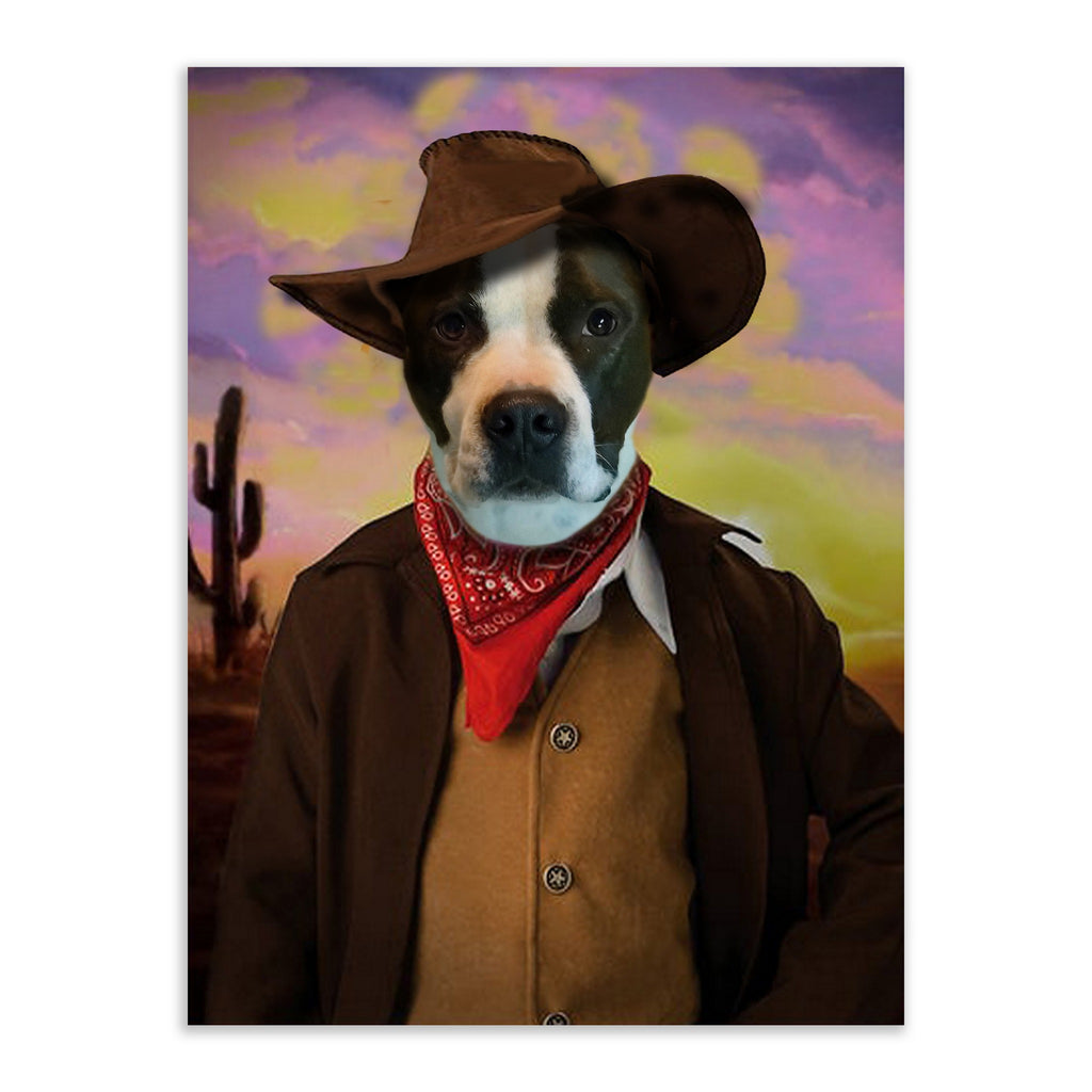 Wild West - Custom Pet Portrait - Metal Wall Art - Fair Dinkum Fashion
