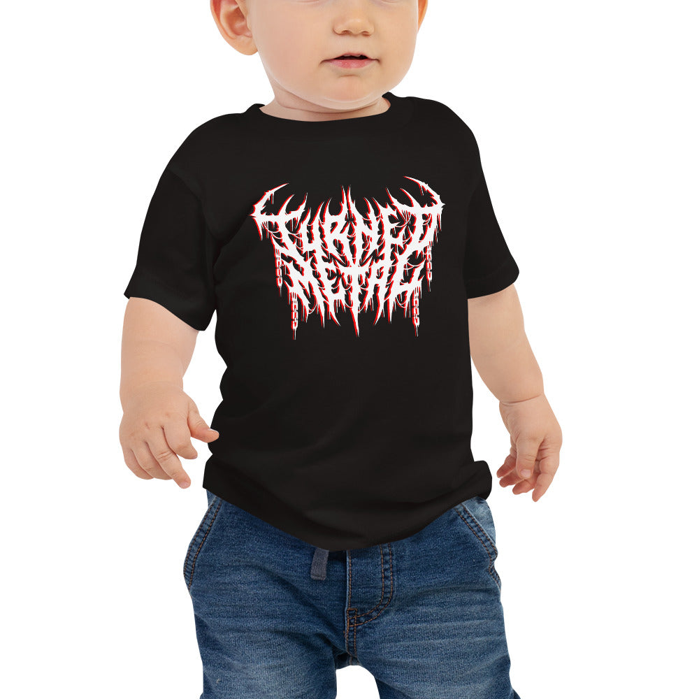 Baby (6-24 Months) Black Short Sleeve Tee Printed With Your Handcrafted Custom Logo