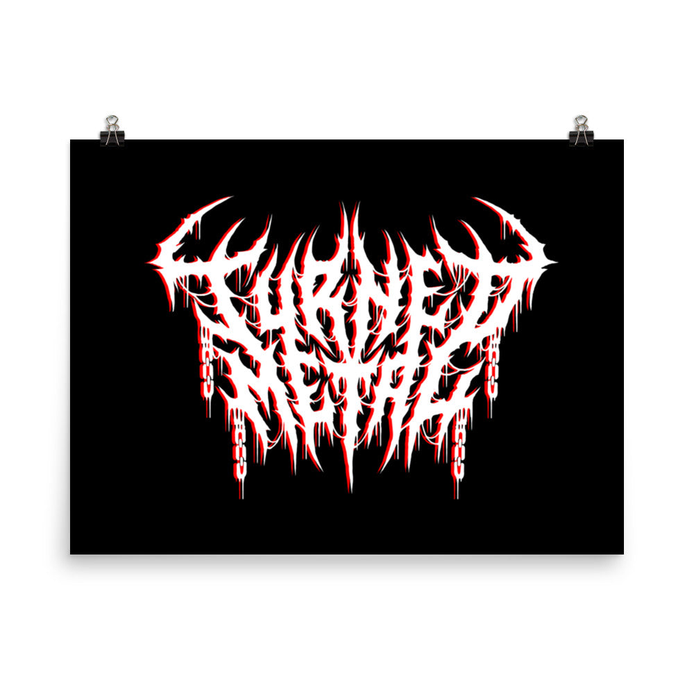 Poster Print With Your Handcrafted Custom Logo on Black Background