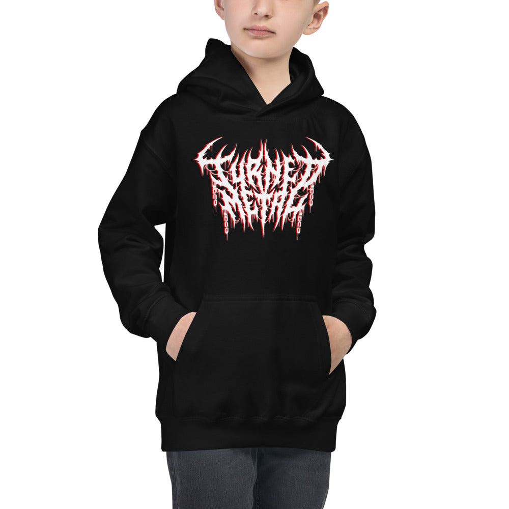 Kids Black Hoodie Tee Printed With Your Handcrafted Custom Logo