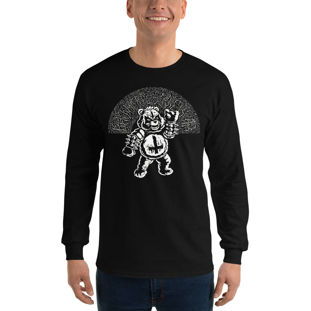 Black Metal Scare Bear - Adult Unisex Black Long-Sleeve Tee