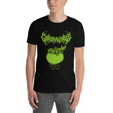"Load image into Gallery viewer, Coronavirus ""Bat Soup for the Soul"" Death Metal T-Shirt plus Updated World Tour Back Print"